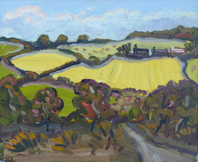 <span class=&#34;artist&#34;><strong>David Lloyd Griffith</strong></span>, <span class=&#34;title&#34;><em>Barley Fields near Abergele</em></span>